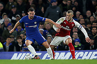 Danny Drinkwater of Chelsea in possession as Arsenal's Jack Wilshere looks on during Chelsea vs Arsenal, Caraboa Cup Football at Stamford Bridge on 10th January 2018
