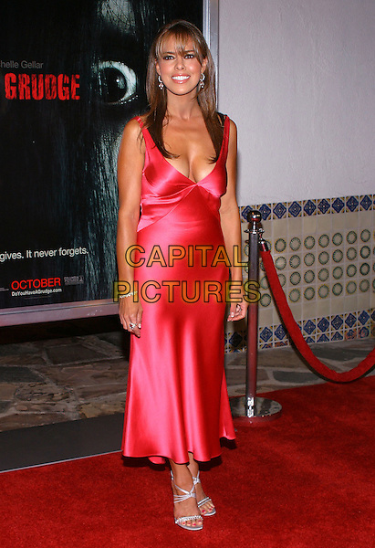 """ROSA BLASI.""""The Grudge"""" Premiere, held at the Mann Village Theatre,. Westwood, California, USA, 12th October 2004.  .full length red satin dress.**UK SALES ONLY**.Ref: ADM.www.capitalpictures.com.sales@capitalpictures.com.©JW/AdMedia/Capital Pictures ."""