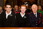 St. John Ambulance members Thomas Kearney and Anthony Dunne, with Senior Assistant Chief Fire Officer Peter Leahy at the mass in the Augustinian Church, dedicated to the memory of those who have lost their lives in road traffic accidents.<br /> Picture: Shane Maguire / www.newsfile.ie