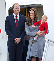 Kate, Duchess of Cambridge, Prince William & Prince George depart Australia - Australia