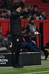 29.11.2018, BayArena, Leverkusen, Europaleque, Vorrunde, GER, UEFA EL, Bayer 04 Leverkusen (GER) vs. Ludogorez Rasgrad (BUL),<br />  <br /> DFL regulations prohibit any use of photographs as image sequences and/or quasi-video<br /> <br /> im Bild / picture shows: <br /> Heiko Herrlich Trainer (Bayer Leverkusen),<br /> <br /> Foto &copy; nordphoto / Meuter<br /> <br /> <br /> <br /> Foto &copy; nordphoto / Meuter