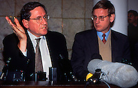 Sarajevo / BIH 1995.Richard Holbrooke and Carl Bildt United Nations Secretary-General's Special Envoy for the Balkans..Photo Livio Senigalliesi