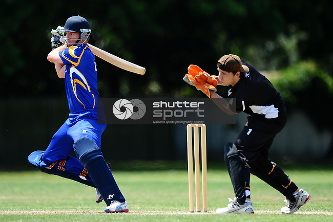 Car Company Senior One Day Cricket. Motueka v Wanderers. Memorial Park, Motueka, Nelson, New Zealand. Saturday 7 February 2015. Copyright Image: Chris Symes/www.shuttersport.co.nz