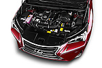 Car Stock 2015 Lexus NX NX 200t 5 Door SUV Engine high angle detail view