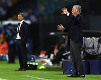 5th November 2019; Stadio San Paolo, Naples, Campania, Italy; UEFA Champions League Group Stage Football, Napoli versus Red Bull Salzburg; Carlo Ancelotti coach of Napoli sends in instructions to his players - Editorial Use