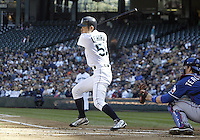 04 October 2009: Seattle Mariners right fielder #51 Ichiro Suzuki fouls off a pitch against the Texas Rangers. Seattle won 4-3 over the Texas Rangers at Safeco Field in Seattle, Washington.