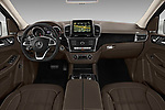 Stock photo of straight dashboard view of 2017 Mercedes Benz GLE AMG-43 5 Door SUV Dashboard