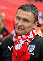 Caretaker Head Coach Paul Heckingbottom of Barnsley  after winning the Johnstone's Paint Trophy Final match between Oxford United and Barnsley at Wembley Stadium, London, England on 3 April 2016. Photo by Alan  Stanford / PRiME Media Images.