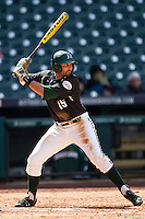 Hawaii Rainbow Warriors third baseman Alex Sawelson (15) at bat ACTION during Houston College Classic against the Baylor Bears on March 6, 2015 at Minute Maid Park in Houston, Texas. Hawaii defeated Baylor 2-1. (Andrew Woolley/Four Seam Images)