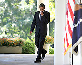 Washington, D.C. - October 9, 2009 -- United States President Barack Obama walks from the Oval Office to deliver brief remarks on his being awarded the Nobel Prize for Peace in the Rose Garden of the White House in Washington, DC on Friday, October 9, 2009..Credit: Ron Sachs / CNPWashington, D.C. - October 9, 2009 -- United States President Barack Obama delivers brief remarks on his being awarded the Nobel Prize for Peace in the Rose Garden of the White House in Washington, DC on Friday, October 9, 2009..Credit: Ron Sachs / CNP.(RESTRICTION: NO New York or New Jersey Newspapers or newspapers within a 75 mile radius of New York City)