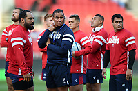 Bristol Bears Head Coach Pat Lam looks on during the pre-match warm-up. Gallagher Premiership match, between Bristol Bears and Bath Rugby on August 31, 2018 at Ashton Gate Stadium in Bristol, England. Photo by: Patrick Khachfe / Onside Images