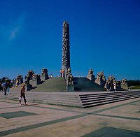 Sculptures at Vigeland park, Oslo,Norway 1975
