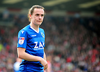 Macclesfield Town's Ben Stephens<br /> <br /> Photographer Andrew Vaughan/CameraSport<br /> <br /> The EFL Sky Bet League Two - Lincoln City v Macclesfield Town - Saturday 30th March 2019 - Sincil Bank - Lincoln<br /> <br /> World Copyright © 2019 CameraSport. All rights reserved. 43 Linden Ave. Countesthorpe. Leicester. England. LE8 5PG - Tel: +44 (0) 116 277 4147 - admin@camerasport.com - www.camerasport.com