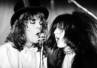 The New York Dolls at Biba's Rainbow Room restaurant on Monday 26 November 1973  Credit: Ian Dickson/MediaPunch