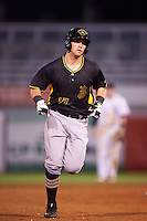 Bradenton Marauders catcher Taylor Gushue (17) running the bases after hitting a home run during a game against the Tampa Yankees on April 11, 2016 at George M. Steinbrenner Field in Tampa, Florida.  Tampa defeated Bradenton 5-2.  (Mike Janes/Four Seam Images)