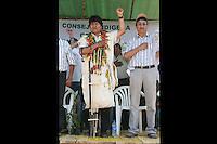 LPZ01. SAN ANTONIO (BOLIVIA), 25/09/2011.- El presidente de Bolivia, Evo Morales, participa en un evento hoy, domingo 25 de septiembre de 2011, en el Territorio Indígena Parque Nacional Isiboro Sécure (Tipnis), en San Antonio (Bolivia) donde los indígenas rechazan una carretera que atravesará el Tipnis. El Gobierno de Morales dispersó por la fuerza la marcha de unos 1.500 indígenas de la Amazonía que rechazan la construcción de dicha vía. EFE/Agencia Boliviana de Información/SOLO USO EDITORIAL/NO VENTAS