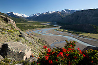 Argentina, Patagonia, El Chalten: View from Mirador Rio de las Vueltas | Argentinien, Patagonien, El Chalten: Ausblick vom Mirador Rio de las Vueltas
