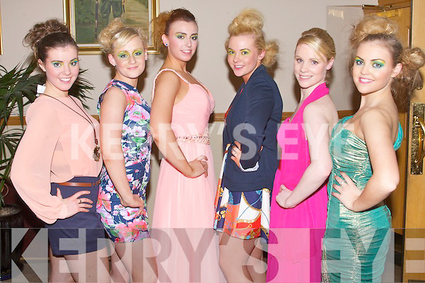 FASHION: The models for the Fashion Show in aid of the Tir na nOg orphanage at the Kerins O'Rahillys clubhouse, Tralee on Friday l-r: Barbara Higgins, Shuna Moriarty, Ooonagh O'Sullivan, Nicola Horan, Caroline Quinn and Mckenzie Keane...
