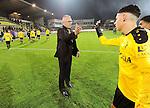 2015-10-30 / Voetbal / seizoen 2015-2016 / SK Lierse - R. Antwerp FC / Erik Van Meir (Lierse) dankt zijn spelers<br /><br />Foto: Mpics.be