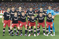 27.08.2012 SPAIN -  La Liga 12/13 Matchday 2th  match played between Atletico de Madrid vs Athletic Club de Bilbao (4-0) with hat-trick Radamel Falcao at Vicente Calderon stadium. The picture show Team Group Liune-up Athletic Club de Bilbao