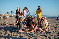 OxyEngage trip with the group, Cali Coasts, as they have a bonfire cookout at Dockweiler State Beach.<br /> Incoming Occidental College first-year students explore Los Angeles as part of OxyEngage, Aug. 19-21, 2019.<br /> OxyEngage is a pre-orientation program that introduces incoming students to Los Angeles. Over two days, upperclassmen lead trips to experience culture, film, food, nature, social justice, the urban environment, and more.<br /> (Photo by Marc Campos, Occidental College Photographer)
