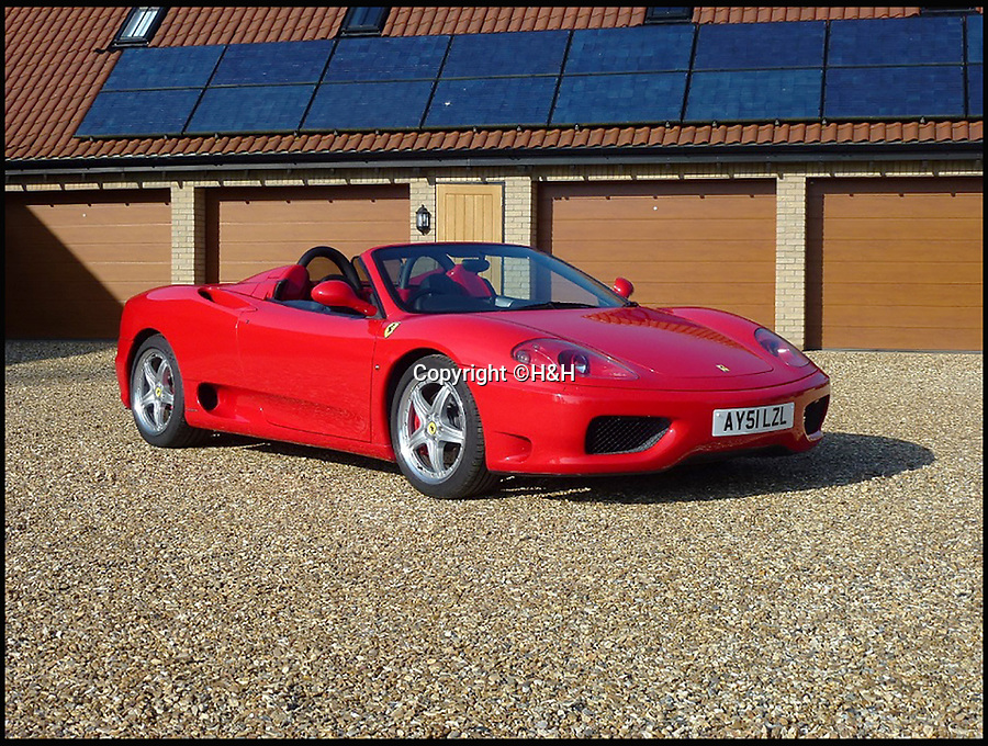 BNPS.co.uk (01202 558833)<br /> Pic: H&amp;H/BNPS<br /> <br /> Ferrari 360 Spider F1 estimated at &pound;75,000.<br /> <br /> A stunning sports car owned by David Beckham has emerged in a sale of eleven Ferraris - making a whole football team of motors. <br /> <br /> Golden Balls owned the 360 Spider in the early noughties when he was at the peak of his powers ahead of a big money move to Real Madrid. <br /> <br /> Becks, a renowned car nut, kitted the 2001 motor out with an F1-style gearbox, carbon fibre backed racing seats, tinted windows and custom bodywork.<br /> <br /> The car's combined worth is a whopping &pound;2,200,000.