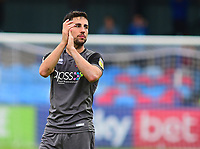 Lincoln City's Tom Pett applauds the fans at the final whistle<br /> <br /> Photographer Andrew Vaughan/CameraSport<br /> <br /> The EFL Sky Bet League One - Macclesfield Town v Lincoln City - Saturday 15th September 2018 - Moss Rose - Macclesfield<br /> <br /> World Copyright &copy; 2018 CameraSport. All rights reserved. 43 Linden Ave. Countesthorpe. Leicester. England. LE8 5PG - Tel: +44 (0) 116 277 4147 - admin@camerasport.com - www.camerasport.com