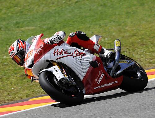 06 06 2010 Fonsi Nieto ESP Moriwaki. Moto2 class, 600cc spec Honda eninges in prototype chassis. Gran Premio d'Italia TIM, Mugello circuit, Italy.