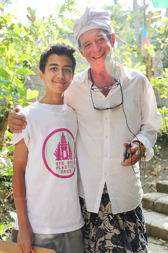 "John Hardy founder of Green School and a student advicate. ""Bye Bye Plastic Bags"" is an initiative from students of Green School. The Indonesian President has pledged to consider banning plastic bags from Bali if they give him a million signatures<br />