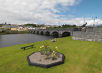 The Laune Bridge crosses over the River Laune at Killorglin in County Kerry. The statue of King Puck is on the right.<br /> Picture by Don MacMonagle