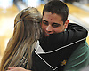 Chris Vietri of Holy Trinity gets a congratulatory hug from coach Mary Messina after winning the NYSCHSAA boys bowling individual championship at AMF Babylon Lanes on Saturday, Mar. 5, 2016. He rolled a four-game series of 982. As a top five finisher (second place) in the tournament, he qualified for a step ladder format playoff which he won to claim the Catholic state crown.