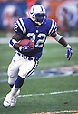 Indianapolis Colts, Edgerrin James (32)  during a game against the Miami Dolphins at Pro Player Stadium in Miami, Florida on December 17, 2000. The Colts beat the Dolphins 20-13. Edgerrin James player for 11 years with 3 different teams and was a 4-time Pro Bowler