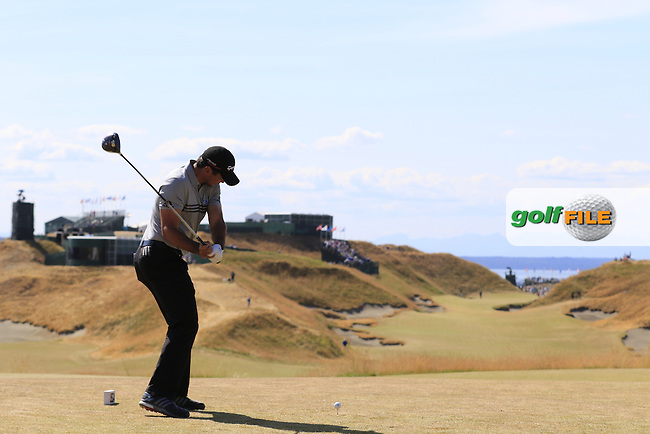 Jason DAY (AUS) tees off the 10th tee during Saturday's Round 3 of the 2015 U.S. Open 115th National Championship held at Chambers Bay, Seattle, Washington, USA. 6/21/2015.<br /> Picture: Golffile | Eoin Clarke<br /> <br /> <br /> <br /> <br /> All photo usage must carry mandatory copyright credit (&copy; Golffile | Eoin Clarke)