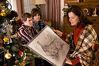 Thomas Kinkade's Home for Christmas (2008)<br /> Aaron Ashmore, Jared Padalecki &amp; Marcia Gay Harden<br /> *Filmstill - Editorial Use Only*<br /> CAP/KFS<br /> Image supplied by Capital Pictures