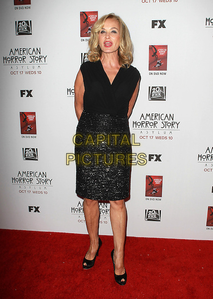 "Jessica Lange.Premiere Screening Of FX's ""American Horror Story: Asylum"" Held At The Paramount Theatre, Hollywood, California, USA..October 13th, 2012.full length black sleeveless top skirt sparkly mouth open.CAP/ADM/KB.©Kevan Brooks/AdMedia/Capital Pictures."