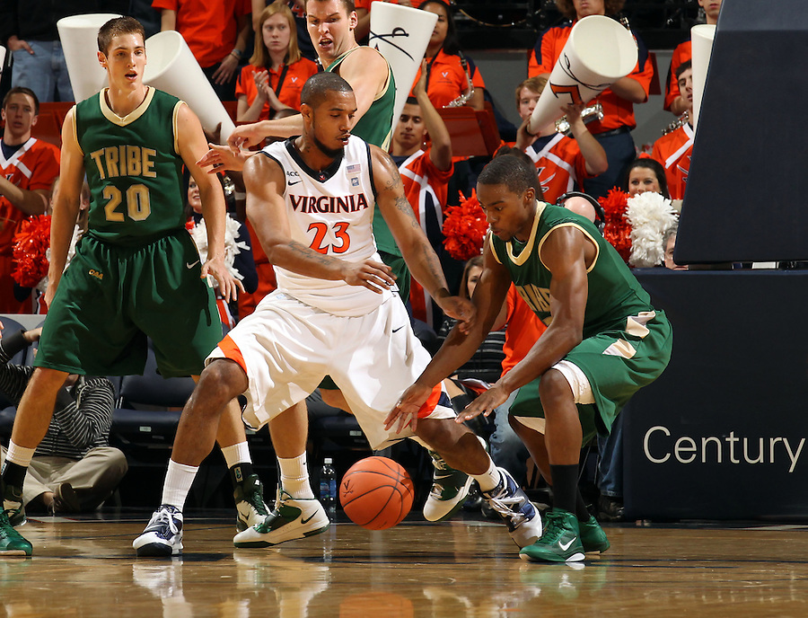 Nov. 12, 2010; Charlottesville, VA, USA;  during the game at the John Paul Jones Arena.  Mandatory Credit: Andrew Shurtleff