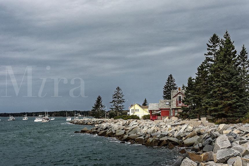 Coastal homes, South Thomaston, Maine, USA