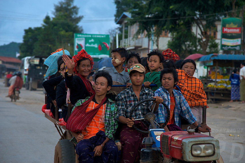 On the road to Inle Lake, Shan State, Myanmar