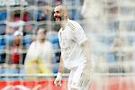 Real Madrid's Karim Benzema celebrates goal during La Liga match. September 14,2019. (ALTERPHOTOS/Acero)