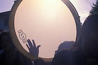 Pandeiro ( pandero ), musical instrument, afro-brazilian percussion instrument, samba, Rio de Janeiro carnival, Brazil.