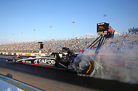 Sep 13, 2013; Charlotte, NC, USA; NHRA top fuel dragster driver Billy Torrence during qualifying for the Carolina Nationals at zMax Dragway. Mandatory Credit: Mark J. Rebilas-