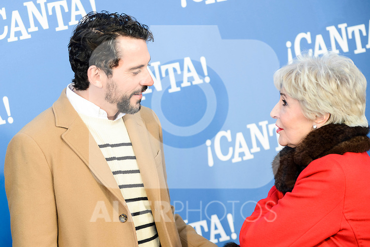 "Paco Leon and Concha Velasco attends to the premiere of the film ""¡Canta!"" at Cines Capitol in Madrid, Spain. December 18, 2016. (ALTERPHOTOS/BorjaB.Hojas)"