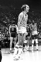 Warrior Rick Barry reacts to a ref call...<br />