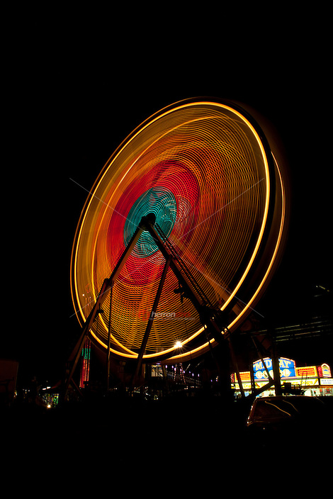 Ferris wheel at night, carnival, austin, texas