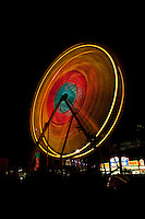 Ferris wheel at night, carnival, austin, texas