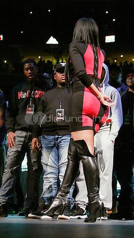 PHILADELPHIA, PA - OCTOBER 23 :  Nikki Minaj joins her boyfriend, Meek Mill on stage at Powerhouse 2015 at the Wells Fargo Center in Philadelphia, Pa on October 23, 2015 photo credit Star Shooter / MediaPunch