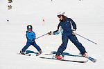 Mt Rose ski tahoe groomers and resort views. Skiing with children.