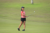 Danielle Kang (USA) in action on the 1st during Round 3 of the HSBC Womens Champions 2018 at Sentosa Golf Club on the Saturday 3rd March 2018.<br /> Picture:  Thos Caffrey / www.golffile.ie<br /> <br /> All photo usage must carry mandatory copyright credit (&copy; Golffile | Thos Caffrey)