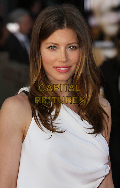 "JESSICA BIEL .""The A-Team"" Los Angeles Premiere held at Grauman's Chinese Theatre, Hollywood, California, USA, .3rd June 2010..portrait headshot  white one shoulder .CAP/ADM/CH.©Charles Harris/AdMedia/Capital Pictures"
