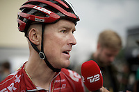 post-race interview for Lars Bak (DEN/Lotto-Soudal)<br /> <br /> stage 19: St-Jean-de-Maurienne - La Toussuire / Les Sybelles   (138km)<br /> Tour de France 2015